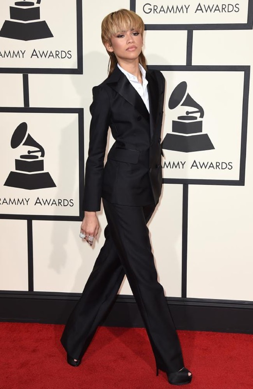 ClioMakeUp-Grammys-Red-Carpet-star-capelli-Makeup-trucco-2016-zendaya