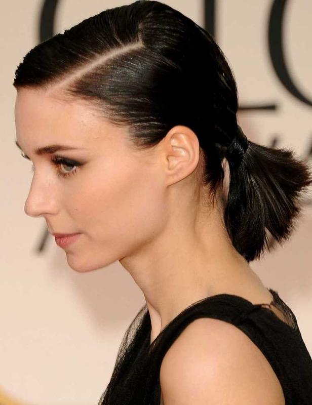 ClioMakeUp-acconciature-facili-veloci-capelli-corti-coda-bassa-rooney-mara
