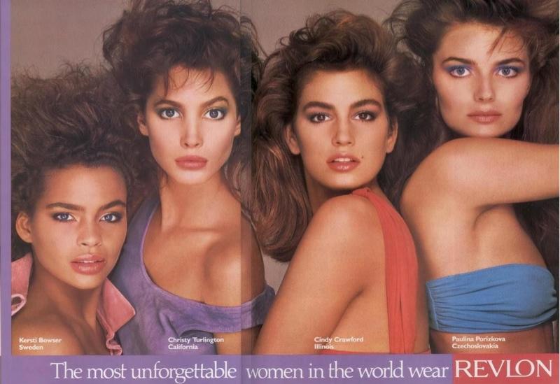 ClioMakeUp-trucco-anni-80-ottanta-stile-disco-punk-pop-Kersti-Bowser-Christy-Turlington-Cindy-Crawford-Paulina-Porizkova-1980s