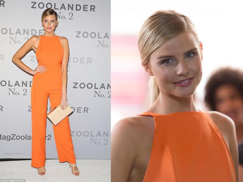ClioMakeUp-trucco-vestito-abito-arancione-arancio-aranciato-abbinare-ombretto-rossetto-tegan-martin