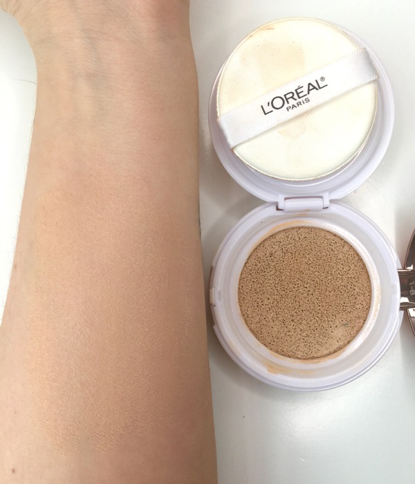 ClioMakeUp-recensione-loreal-true-match-lumi-cushion-swatch-clio