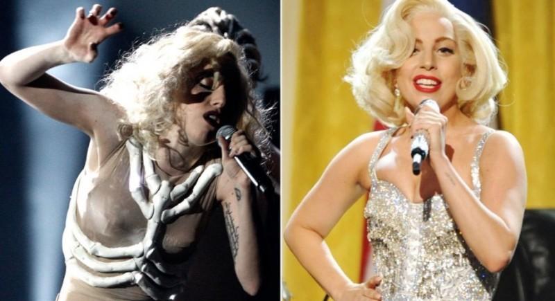 cliomakeup-evoluzione-look-lady-gaga-prima-dopo-abiti-bizzarri-stile-anni-50