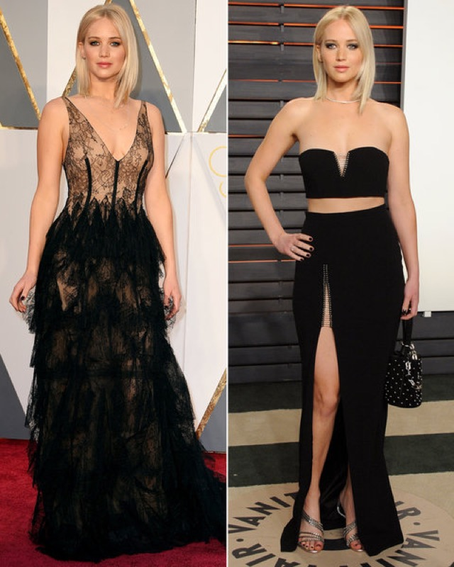ClioMakeUp-oscar-2016-red-carpet-after-party-prima-e-dopo-look-vestito-trucco-make-up-jennifer-lawrence