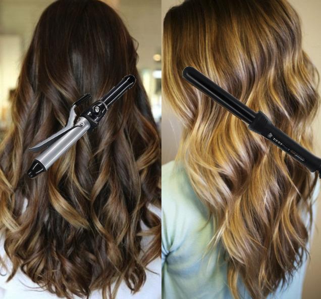 Piega capelli lunghi con boccoli