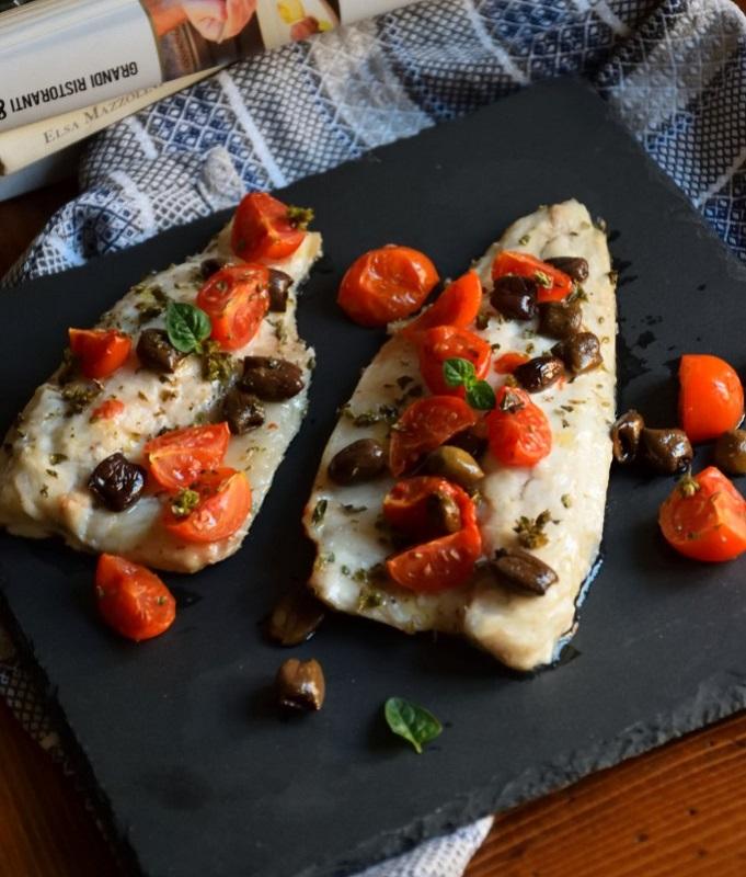 cliomakeup-dieta-dello-studente-12-pesce-forno-pomodorini-olive