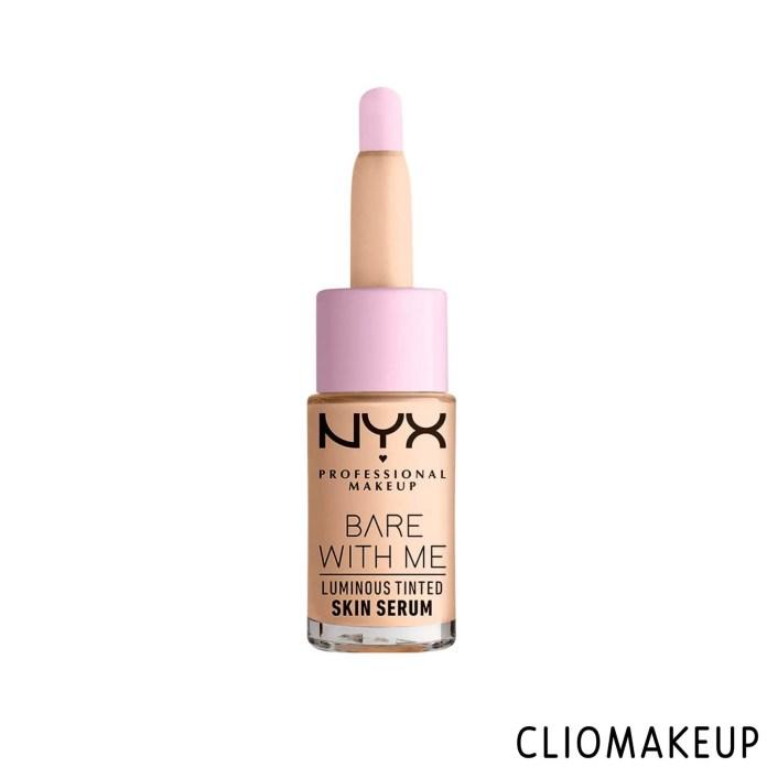 cliomakeup-recensione-fondotinta-nyx-bare-with-me-luminous-tinted-skin-serum-1