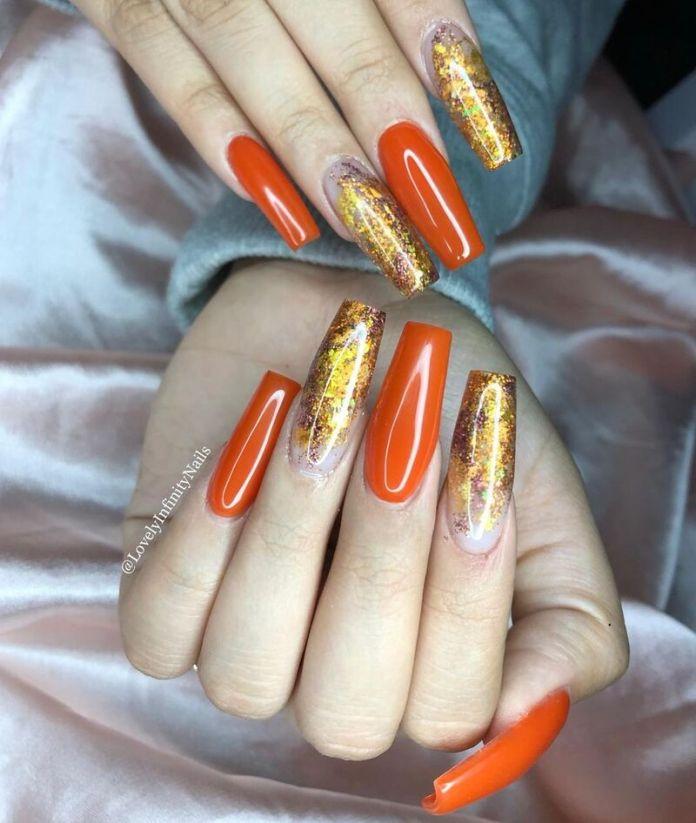cliomakeup-pumpkin-nails-dorate