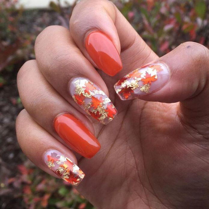 cliomakeup-pumpkin-nails-foliage
