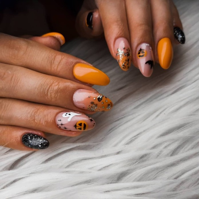 cliomakeup-pumpkin-nails-halloween