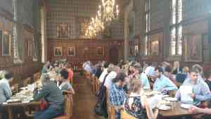 The Corpus Christi Dining Hall at lunchtime.