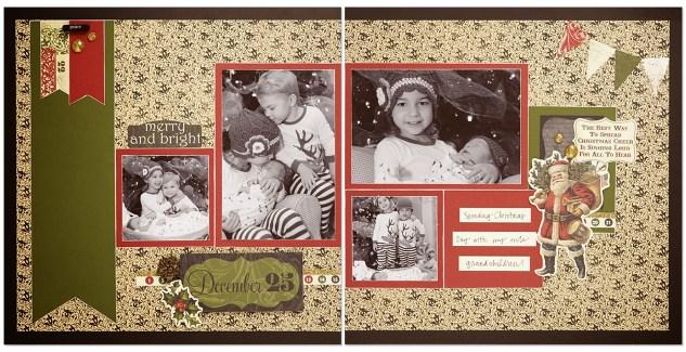 Yuletide Carol scrapbook layout