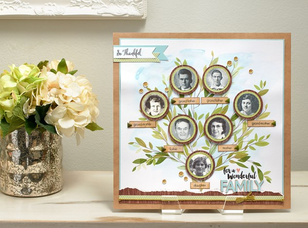 Create a beautiful family tree generations will cherish! #ctmh #closetomyheart #ctmhurban #ctmhzoe #diyfamilytree #familyhistory #familyphotos #scrapbookingideas