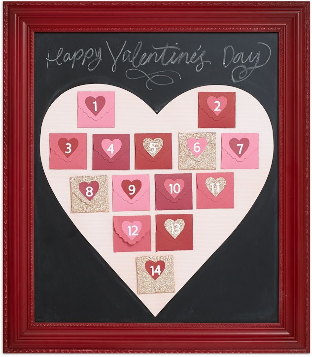 Create this fun Valentine's Day Advent Calendar! #CloseToMyHeart #ctmh #Valentines #calendar #countdown #Vday #ValentinesDay