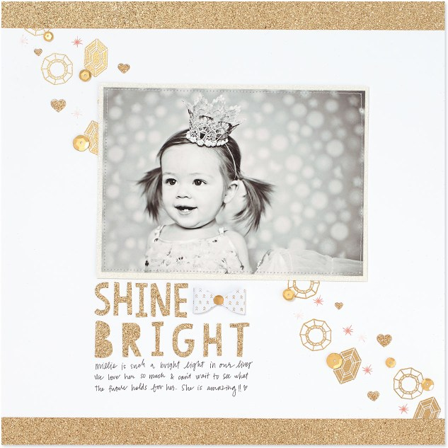 Learn how to create beautiful monochromatic and rainbow-colored scrapbook pages on the blog! #ctmh #closetomyheart #scrapbooking #cardmaking #paperaddict #craft #stpatricksday #goldglitter