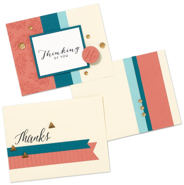 Fresh ideas to mix up your cardmaking game. #ctmh #closetomyheart #cards #crafting #thankyoucard #happybirthdaycards