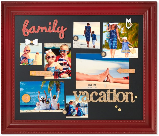 Ideas for displaying your vacation memories in your home—and in your scrapbooks! #ctmh #closetomyheart #diyhomedecor #chalkboardideas #shadowbox