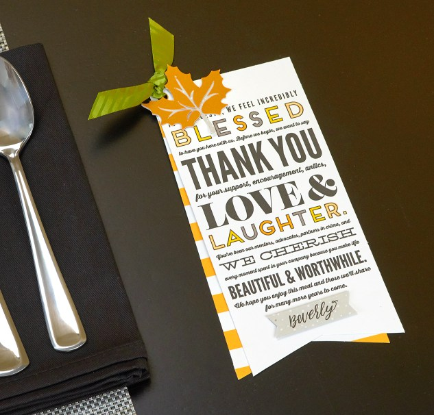 Free Thanksgiving printables for your dinner table! #closetomyheart #ctmh #thanksgiving #placesetting #dinnertable #dinnerparty #namecards