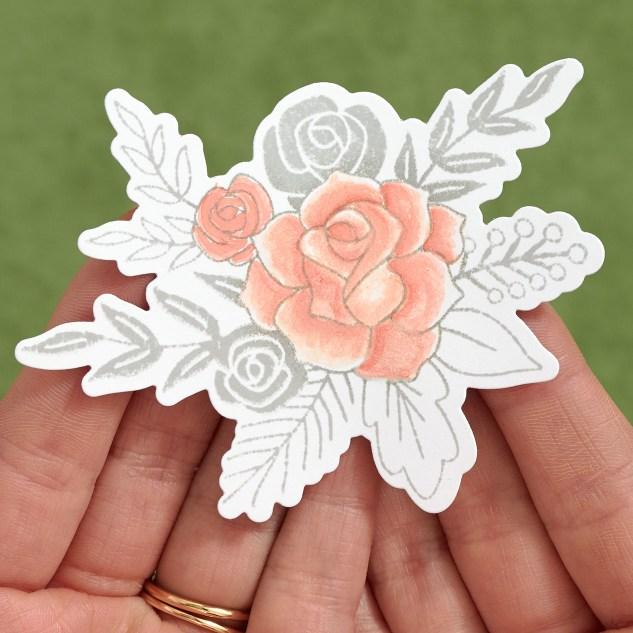 How to shade your stamped flowers using watercolors #watercolors #watercolortechniques #howto #painting #crafting #cardmaking #wedding #bridalshower #ctmh #closetomyheart
