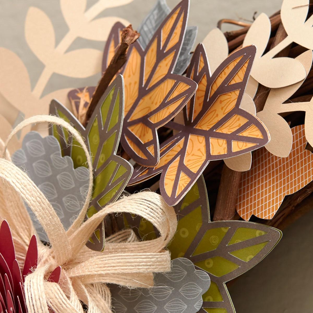 fall leaves #ctmh #closetomyheart #diy #flowermarket #cricut #wreath #fall #autumn