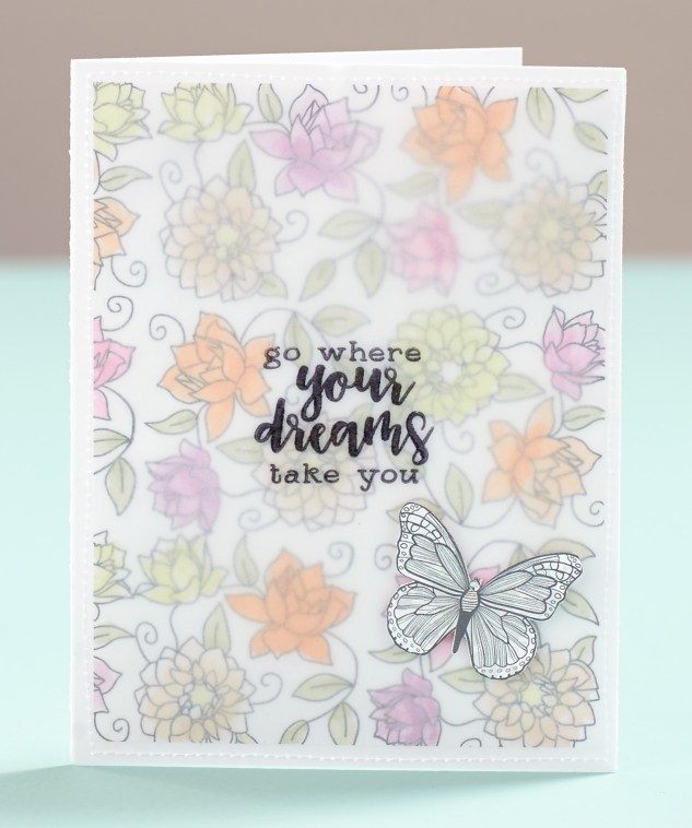 Card Stamping on Vellum #ctmh #closetomyheart #vellum #stamping #nsm #nationalstampingmonth #stampingtechniques #stampingtips #cardmaking #card