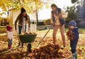 15-ways-to-share-a-smile #ctmh #closetomyheart #shareasmile #smile #share #operationsmile #punnypals #leaves #fall #raking #family