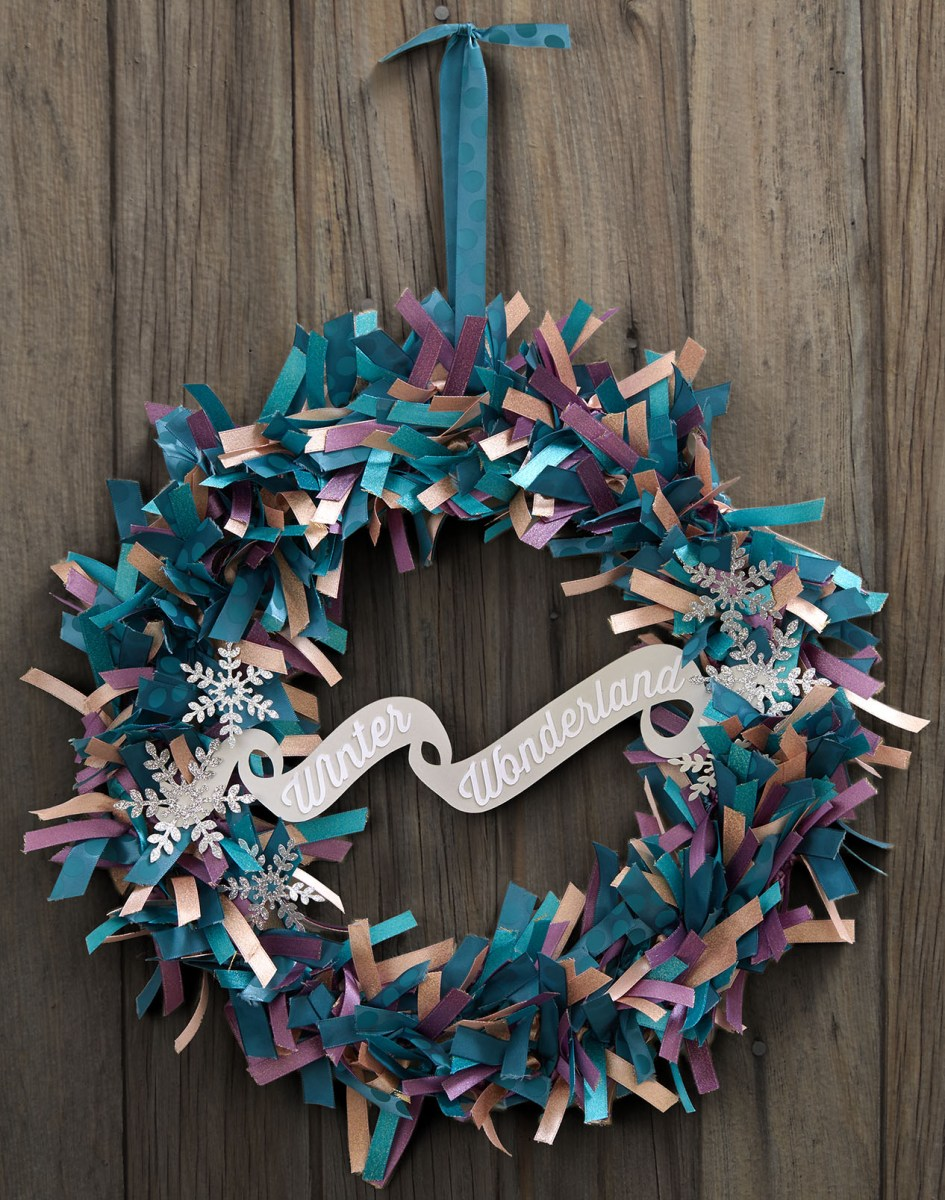 diy ribbon crafts #ctmh #closetomyheart #diy #ribbon #craft #project #Christmas #wreath #winter #wonderland