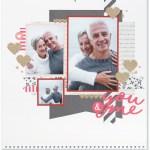 Through the Year #ctmh #closetomyheart #throughtheyear #calendar #kit #scrapbooking #scrapbook #memorykeeping #keepsake #gift #diy #family #Chrismas #present #photos #gold #glitter #diecut #gems #stars #February #valentine #love #you #me