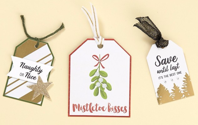 Gift Tags #ctmh #closetomyheart #diy #gift #tag #Christmas #presents #reindeer #rudolph #merry #bright #holiday #wishes #ribbon #mistletoe #snow #santa #tree #nice #naughty #list #red #green #ruby #newenglandivy #gold #glitter #complements #cricut #cutabove