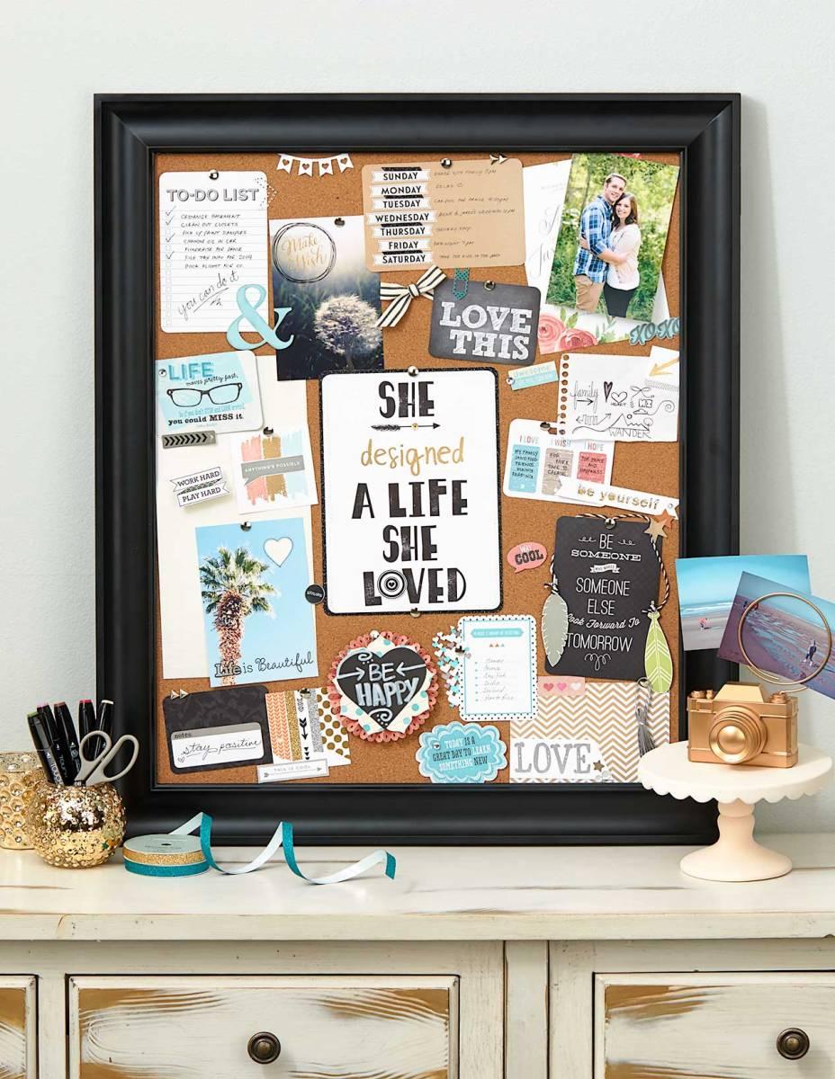 Organizing Your Creative Dreams #ctmh #closetomyheart #vision #board #organize #organizing #organise #organising #creative #create #dreams #design #cork #bulletin #pins #craft #crafting #diy #doityourself #frame #framing