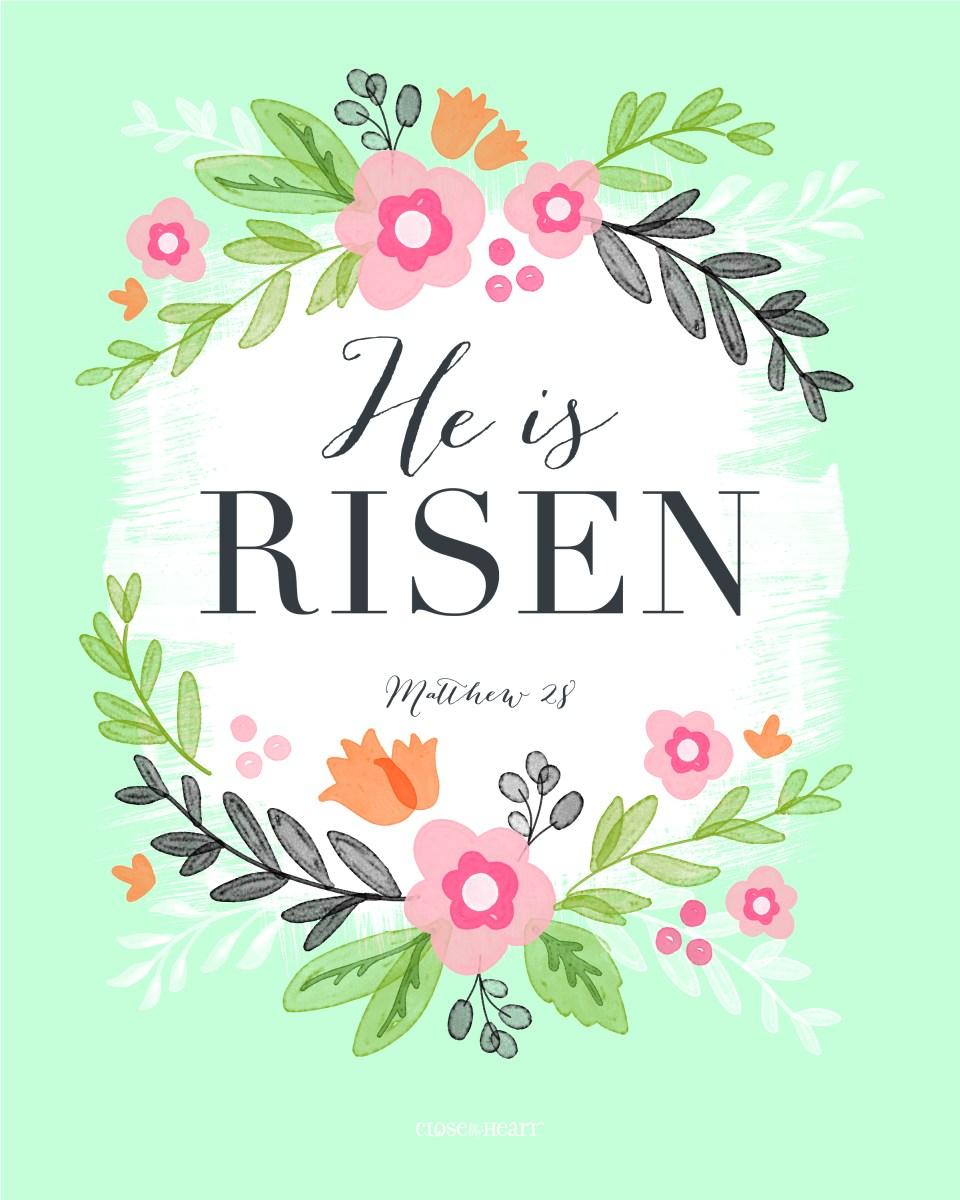 hello spring #ctmh #closetomyheart #hello #spring #pennant #banner #wreath #thin #cuts #diecuts #thincuts #dies #alpha #block #letters #alphabet #home #decor #decoration #decorating #diy #easter #hesirisen #myredeemerlives #printable #redeemer #lives #matthew28 #risen #resurrection #floral #flower #watercolor #free #printable #printables