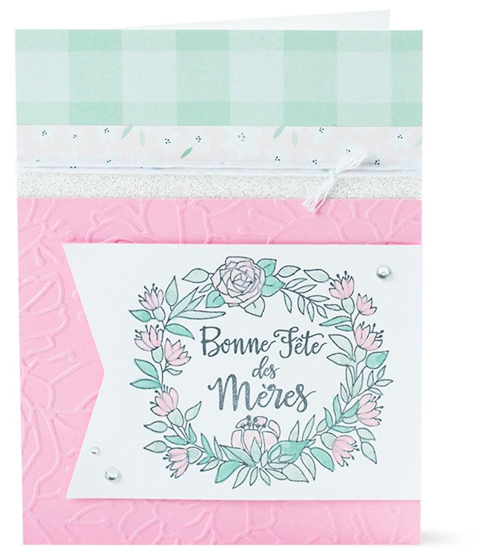 Free Card Pattern Three Ways #ctmh #closetomyheart #ctmhgimmesomesugar #gimmesomesugar #cards #diy #diycards #mothersday #freepattern #free #pattern #cardpattern #french #bonnefêtedesmères #bonnefête #bonnefete #meres #mères #français #francais