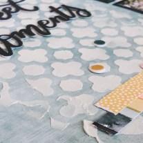 Deluxe Scrapbooking Workshop #CTMH #CloseToMyHeart #WorkshopsYourWay® #scrapbooking #scrapbook #deluxe #elevatedscrapbooking #texturepaste #mixedmedia #stencil #CricutArtistryCollection #CTMHBoutique