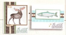 The Great Outdoors #ctmh #closetomyheart #thegreatoutdoors #scrapbooking #cardmaking #wildanimals #wild #wilderness #moose #fish #bear #duck