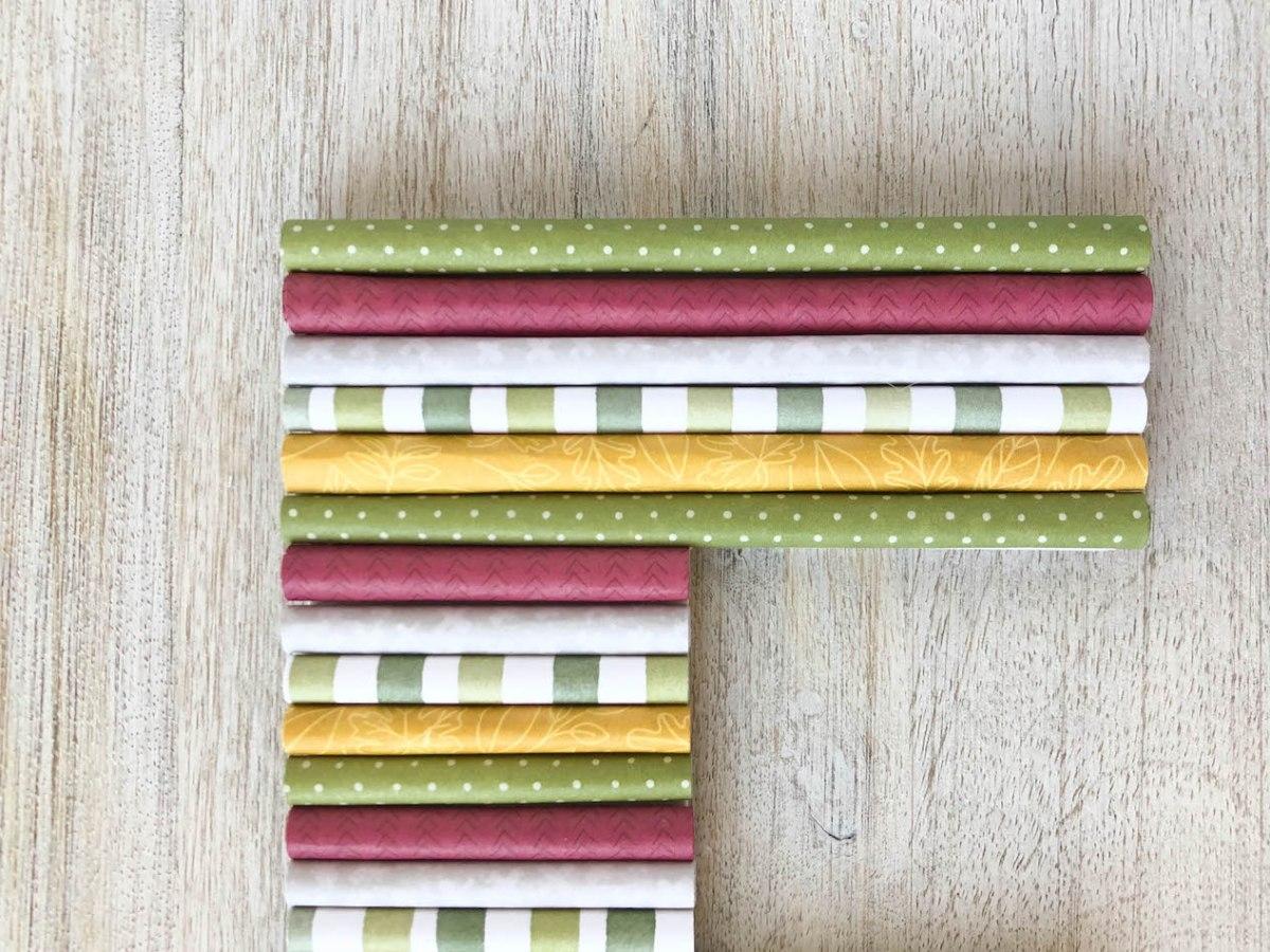 Rolled Paper Monogram #ctmh #closetomyheart #ctmhgratefulheart #fall #autumn #monogram #papercraft #rolledpaper