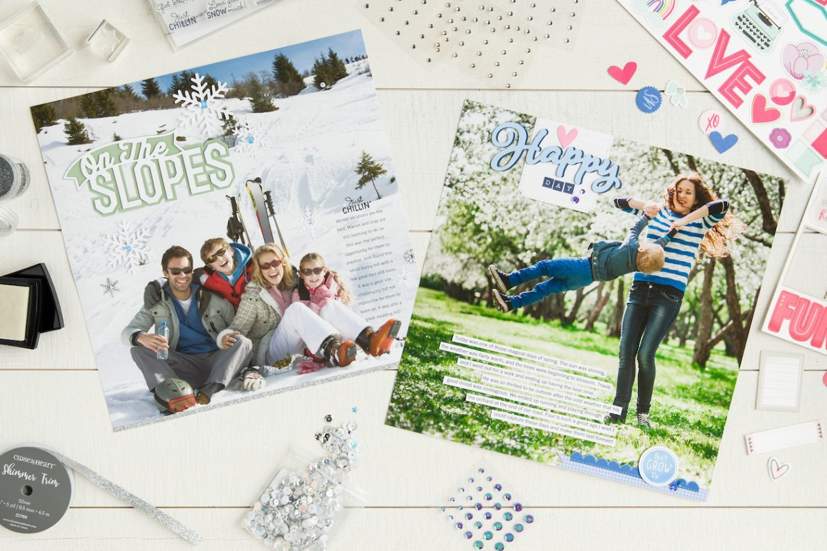 "Using 12"" x 12"" Photos In Your Scrapbook #ctmh #closetomyheart #scrapbooking #scrapbook #photopage #largephoto #journaling #journalling #storytelling #memorykeeping"