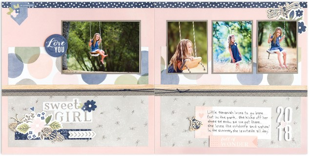Scrapbook Patterns #ctmh #closetomyheart #scrapbooking #album #pattern #sweetgirl #girl