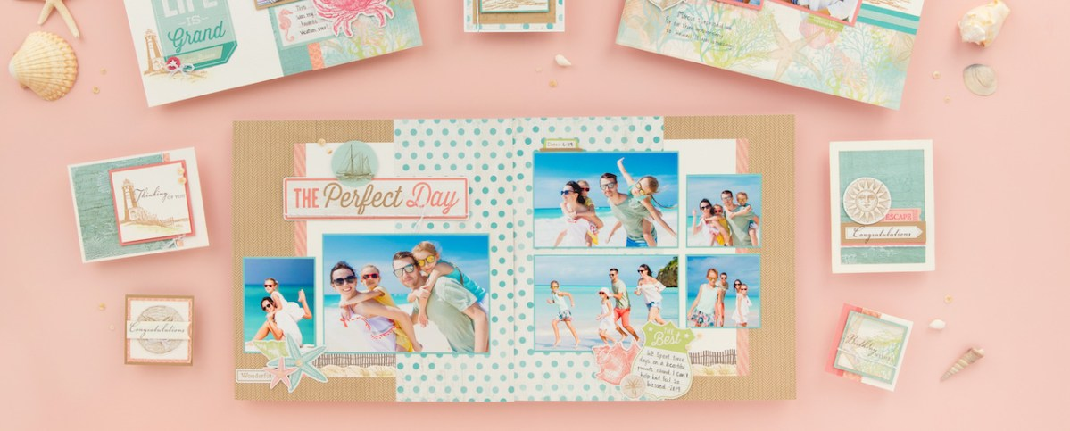 Making Memories by the Seaside #ctmh #closetomyheart #ctmhseaside #bringbackmypack #scrapbooking #cardmaking #patterns #workshopguide #beach #vacation #holiday #summer