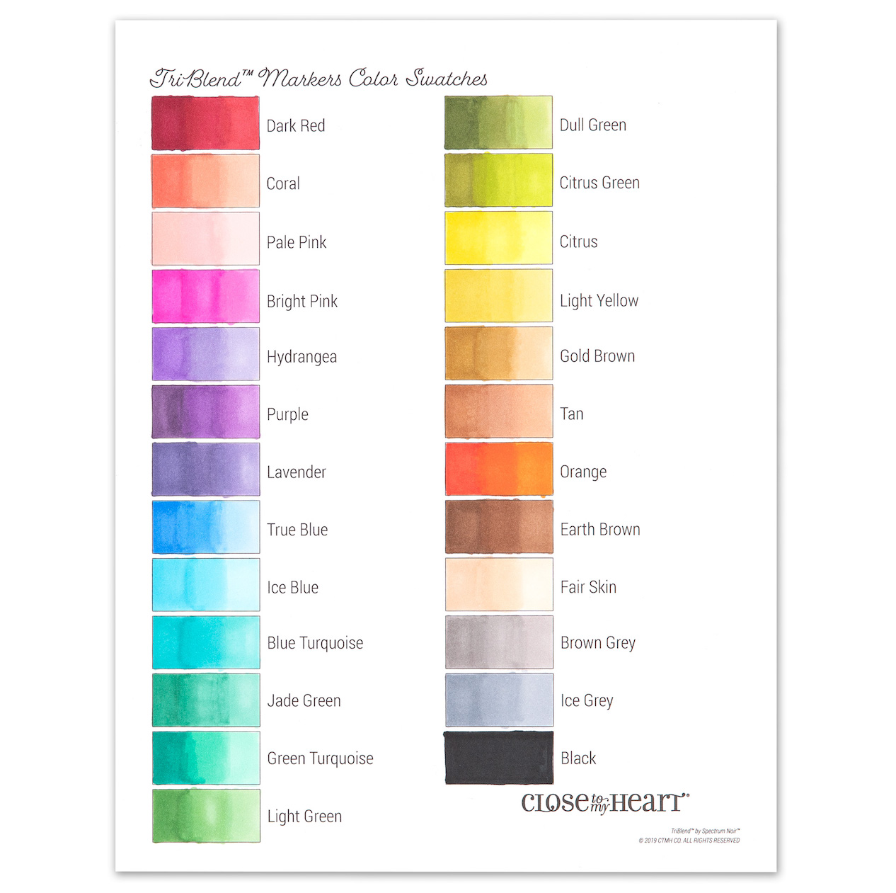 Triblend Markers With A Printable Chart Make It From Your Heart