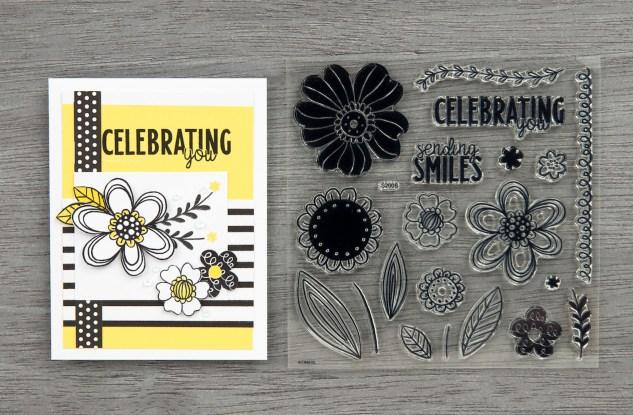 Free Card Pattern #ctmh #closetomyheart #freepattern #cardmaking #cardpattern #happiestplace #free #floralcelebration #august #stampofthemonth