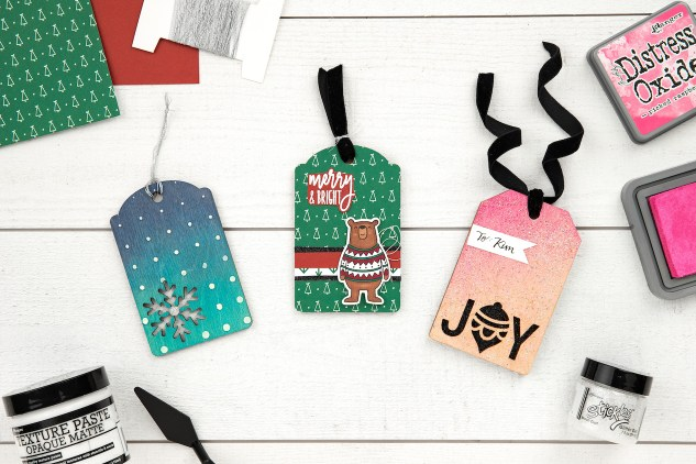 DIY Wood Tags & Ornaments #ctmh #closetomyheart #ctmhmerrylittlechristmas #merrylittlechristmas #diyornaments #diytags #christmastags #christmasornaments