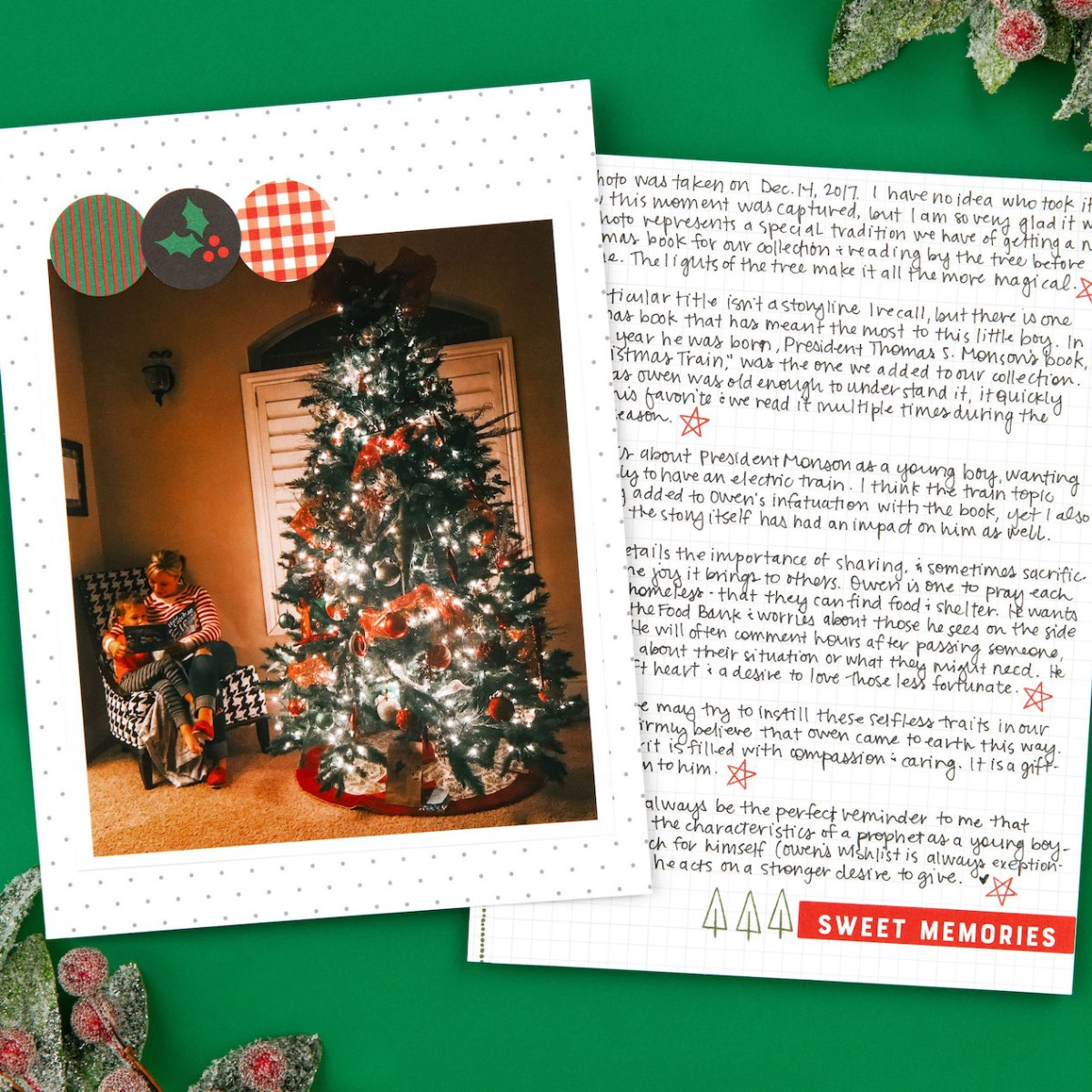 Holiday Stories I Love #ctmh #closetomyheart #storybystacy #holidaystoriesilove #storiesilove #storytelling #memorykeeping #scrapbooking #holiday #christmas