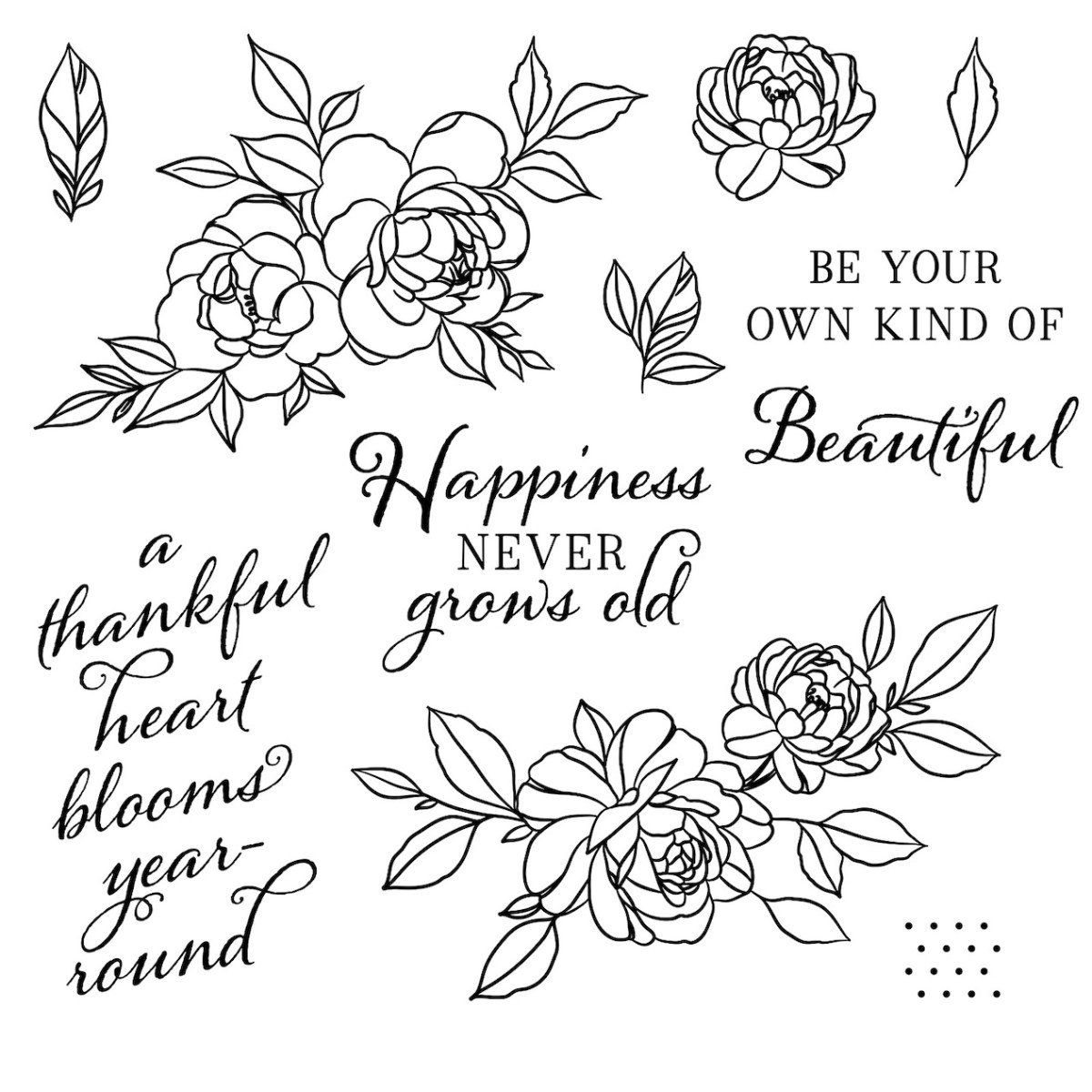 Close To My Heart VIP #closetomyheart #ctmh #scrapbooking #cardmaking #stamping #ctmhvip #vipprogram #happinessnevergrowsold #stampofthemonth #floralstampset #flowerstampset #beyourownkindofbeautiful #thankfulheart