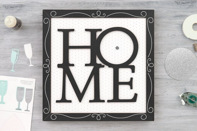 DIY Home Decor #ctmh #closetomyheart #ctmhhomesweethome #nationalpapercraftingmonth #papercrafting #diyhomedecor #framekit #homesweethome