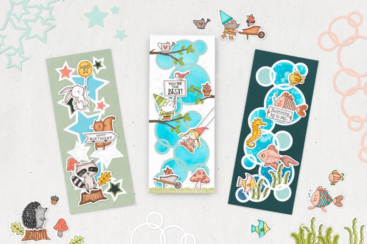 Slimline Cards #closetomyheart #ctmh #nationalstampingmonth #slimlinecelebration #slimlinecards #slimline #cardmaking