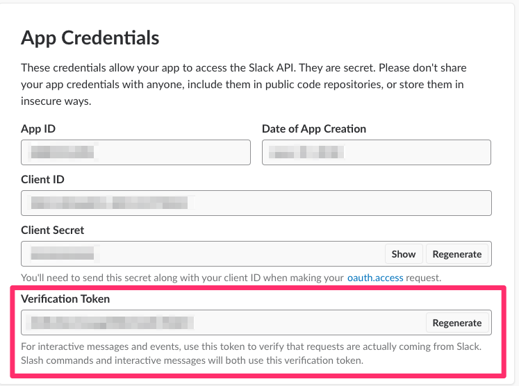 Slack: Fetch App Credentials