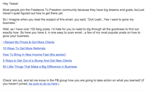 freelance-to-freedom-project-newsletter