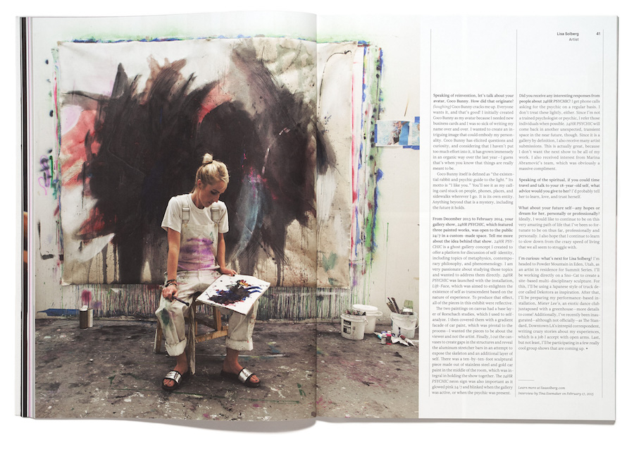 Artist Lisa Solberg in The Great Discontent, Issue Three, photographed by Ward + Kweskin