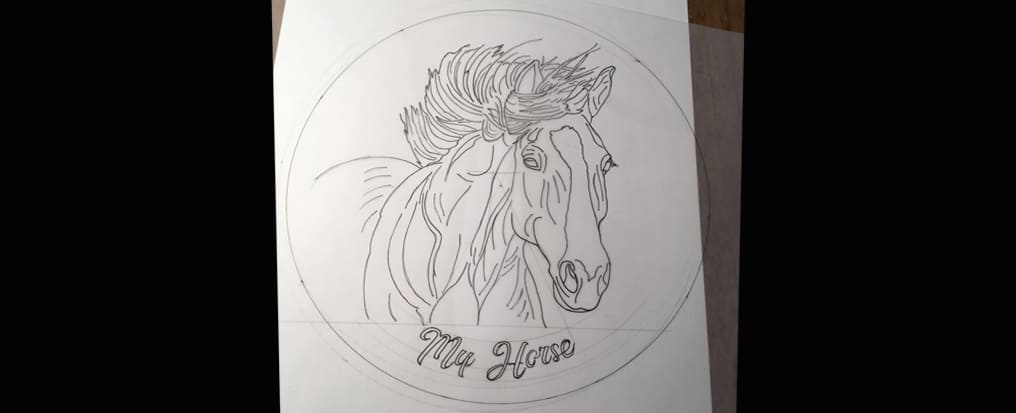 Drawing of horse