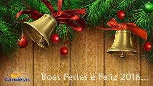 O Candeias lhe deseja Boas Festas e um Feliz 2016