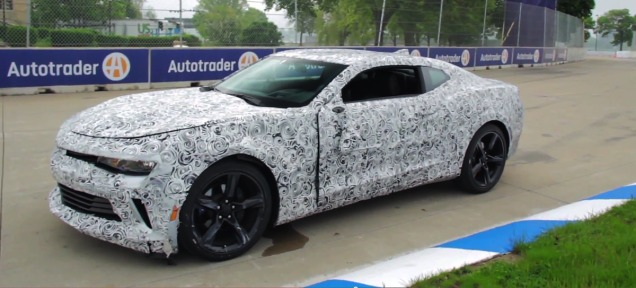 2016 Camaro Test-Mule bumped into a tire wall